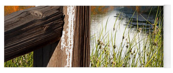Landscape With Fence Pole Yoga Mat
