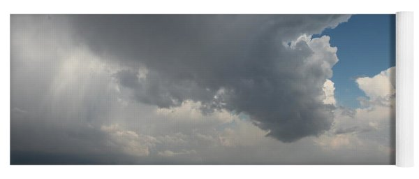 Yoga Mat featuring the photograph More Strong Cells Moving Over South Central Nebraska by NebraskaSC