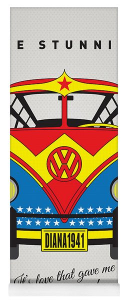My Superhero-vw-t1-wonder Woman Yoga Mat