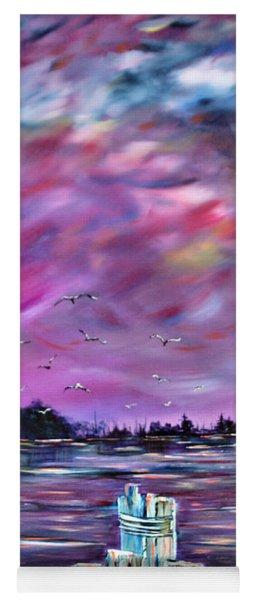 Neuse River Gulls North Carolina Yoga Mat