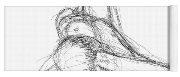 Nude Male Sketches 2 Yoga Mat