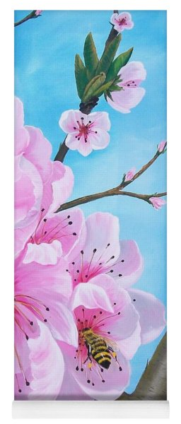 #2 Of Diptych Peach Tree In Bloom Yoga Mat