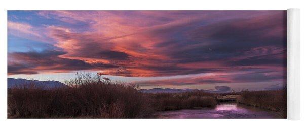 Owens River Sunset Yoga Mat