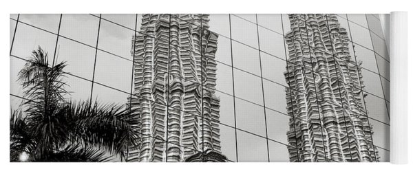 Petronas Towers Reflection Yoga Mat