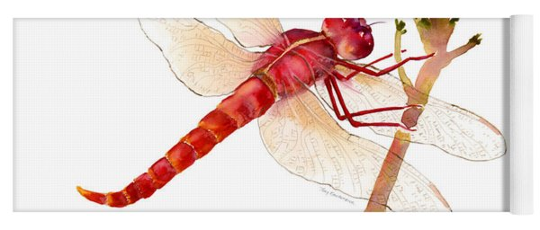Red Dragonfly Yoga Mat