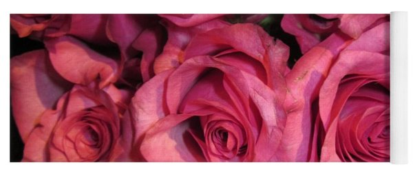 Rosebouquet In Pink Yoga Mat