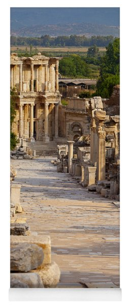 Yoga Mat featuring the photograph Ruins Of Ephesus by Brian Jannsen