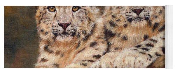 Snow Leopards Yoga Mat
