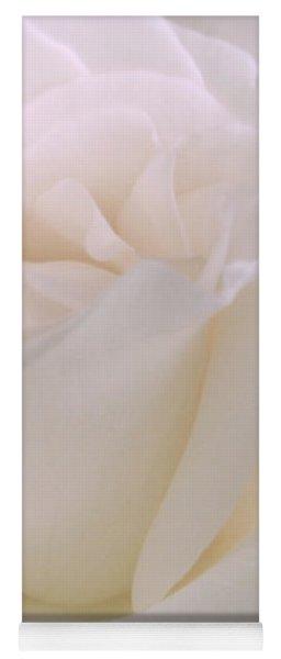 Softness Of A White Rose Flower Yoga Mat