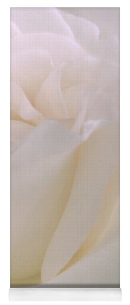 Softness Of A White Rose Flower Yoga Mat