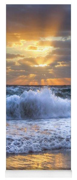 Splash Sunrise Yoga Mat