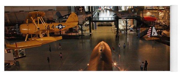 Sr71 Blackbird At The Udvar Hazy Air And Space Museum Yoga Mat