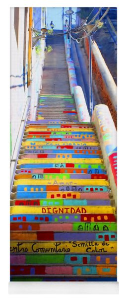Stairway To Heaven Valparaiso  Chile Yoga Mat