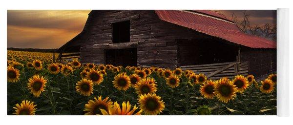 Sunflower Farm Yoga Mat