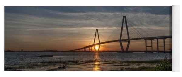 Sunset Over The Bridge Yoga Mat