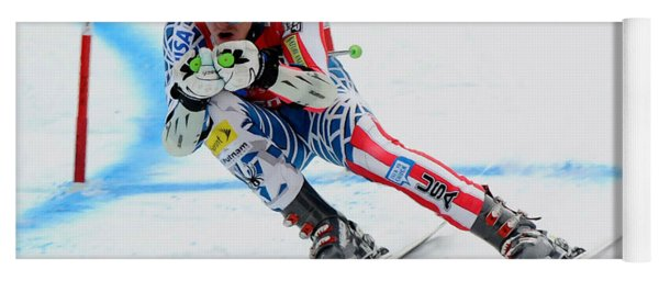 Ted Ligety Skiing  Yoga Mat