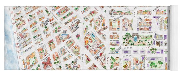 The Greenwich Village Map Yoga Mat