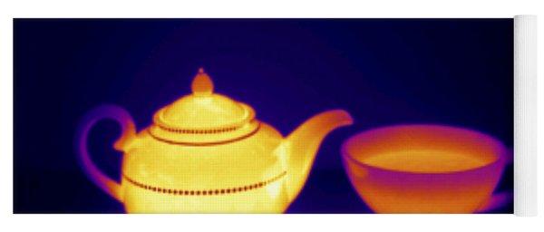 Thermogram Of Teapot And Teacup Yoga Mat