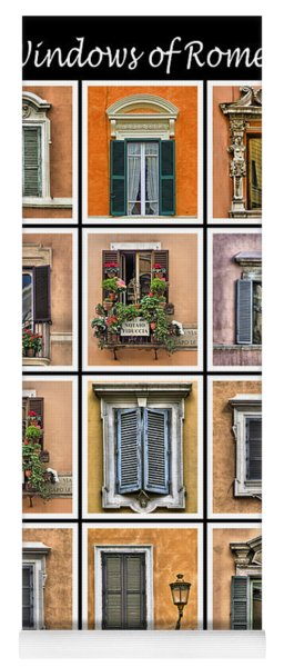 Windows Of Rome Yoga Mat