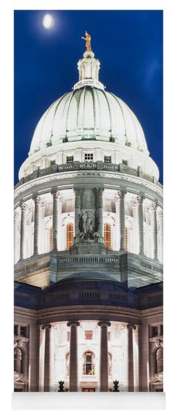 Wisconsin State Capitol Building At Night Yoga Mat