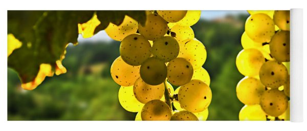 Yellow Grapes Yoga Mat