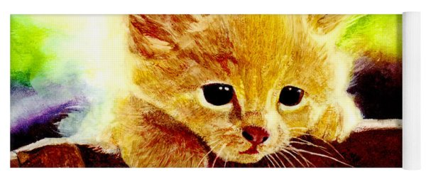 Yellow Kitten Yoga Mat