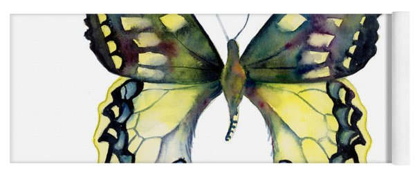 20 Old World Swallowtail Butterfly Yoga Mat