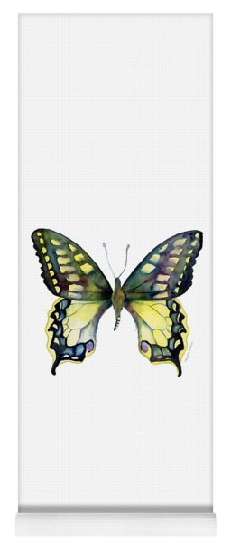20 Old World Swallowtail Butterfly Yoga Mat