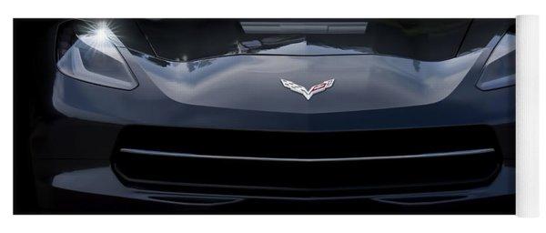 2014 Corvette With Emblem Yoga Mat