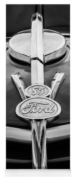 1937 Ford Pickup Truck V8 Emblem Yoga Mat