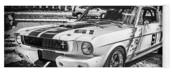 1965 Ford Shelby Mustang Bw Yoga Mat