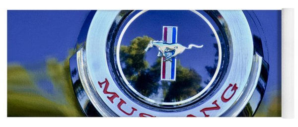 1965 Shelby Prototype Ford Mustang Emblem Yoga Mat