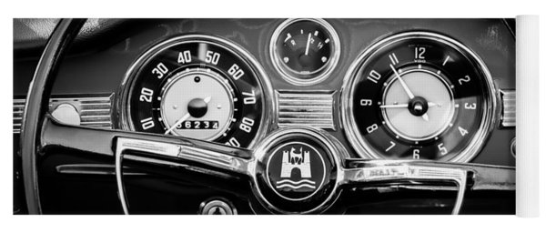 1966 Volkswagen Vw Karmann Ghia Steering Wheel Yoga Mat