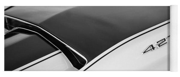 1967 Chevrolet Corvette Coupe Hood Emblem Yoga Mat