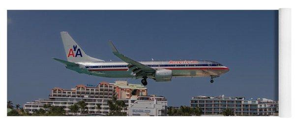 American Airlines At St. Maarten  Yoga Mat