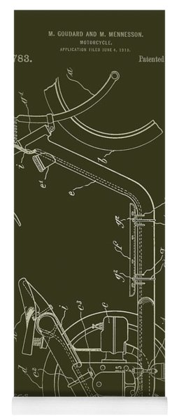 Antique Motorcycle Patent 1921 Yoga Mat