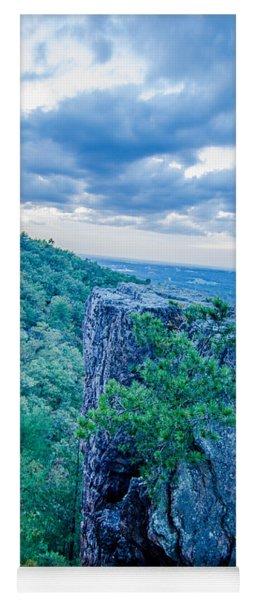 Beautiful Aerial Landscape Views From Crowders Mountain Near Gas Yoga Mat