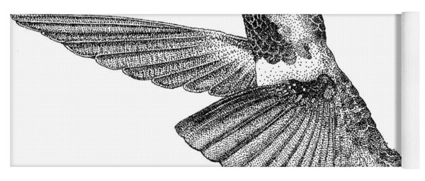 Broad Tailed Hummingbird Yoga Mat