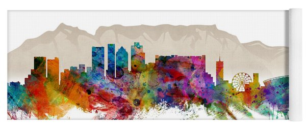 Cape Town South Africa Skyline Yoga Mat
