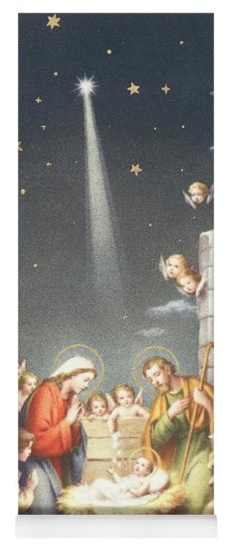 Christmas Card Yoga Mat