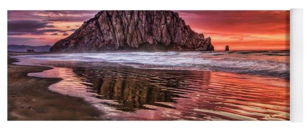 Crimson Sunset Yoga Mat