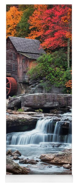 Glade Creek Grist Mill  Yoga Mat