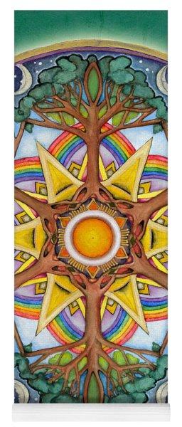 Heaven And Earth Mandala Yoga Mat