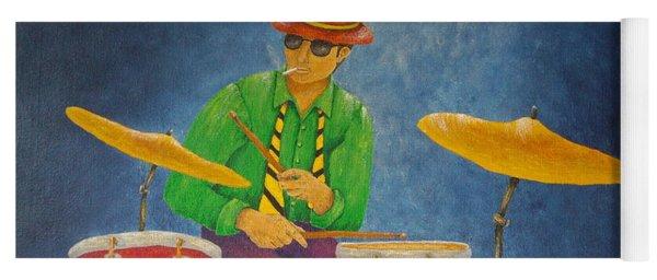 Jazz Drummer Yoga Mat