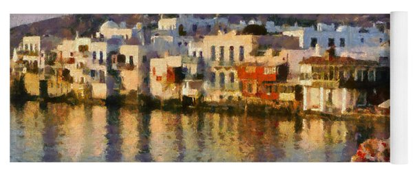 Little Venice In Mykonos Island Yoga Mat