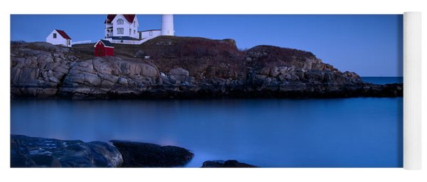 Yoga Mat featuring the photograph Nubble Lighthouse by Brian Jannsen