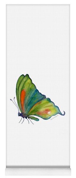 3 Perched Orange Spot Butterfly Yoga Mat