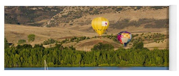Rocky Mountain Balloon Festival Yoga Mat