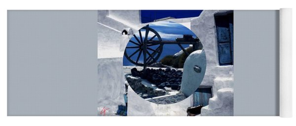 Yoga Mat featuring the photograph Santorini Island Greece by Colette V Hera  Guggenheim