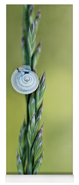 Snail On Grass Yoga Mat